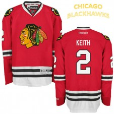 Chicago Blackhawks #2 Duncan Keith Red Home Premier Jersey