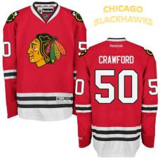 Chicago Blackhawks #50 Corey Crawford Red Home Premier Jersey