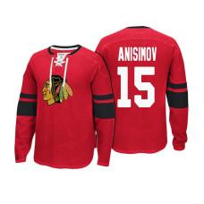 Chicago Blackhawks #15 Artem Anisimov Red Player Centre Pullover Hoodie
