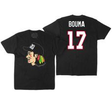 Chicago Blackhawks #17 Lance Bouma Black Hockey Club Game On T-shirt