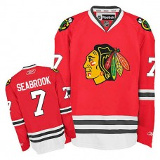 Youth Chicago Blackhawks Brent Seabrook #7 Red Home Jersey