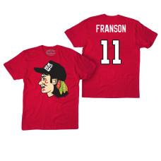 Chicago Blackhawks #11 Cody Franson Red Hockey Club Game On T-shirt