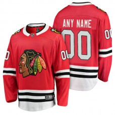 Chicago Blackhawks 2018 Fanatics Branded Custom Jersey Red