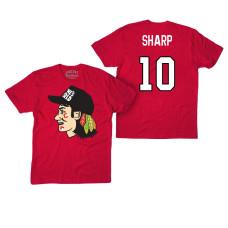 Chicago Blackhawks #10 Patrick Sharp Red Hockey Club Game On T-shirt
