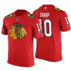 Chicago Blackhawks #10 Patrick Sharp Red Adidas Player T-shirt