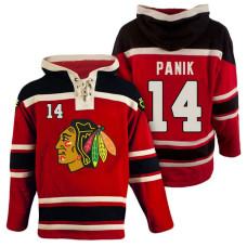 Chicago Blackhawks #14 Richard Panik Red Throwback Pullover Hoodie