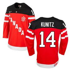 Canada Team Chris Kunitz #14 Red 100th Anniversary Premier Olympic Jersey