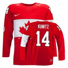 Women's Canada Team Chris Kunitz #14 Red Away Premier Olympic Jersey