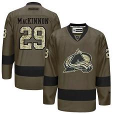Colorado Avalanche Nathan MacKinnon #29 Green Camo Player Jersey