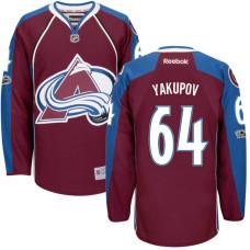 Colorado Avalanche #64 Nail Yakupov Maroon Anniversary Patch Reebok Home Premier Jersey