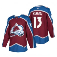 Colorado Avalanche #13 Alexander Kerfoot Burgundy 2018 New Season Player Home Jersey