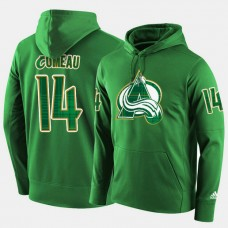 Colorado Avalanche #14 Blake Comeau Green St. Patrick Day Pullover Hoodie