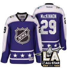 Colorado Avalanche Nathan MacKinnon #29 Purple La Kings All Star Jersey