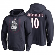 Colorado Avalanche #10 Sven Andrighetto Navy 2018 Stanley Cup Playoffs Hoodie Hoodie