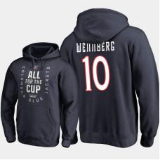 Columbus Blue Jackets #10 Alexander Wennberg Pullover Hoodie Navy