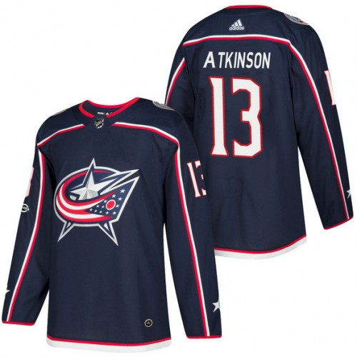 7ecf582e ... shop columbus blue jackets 13 cam atkinson navy 2018 new season home authentic  jersey with anniversary