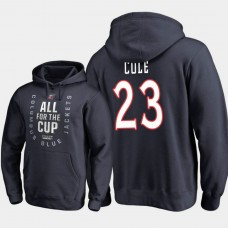 Columbus Blue Jackets #23 Ian Cole Pullover Hoodie Navy