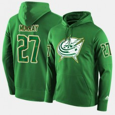 Columbus Blue Jackets #27 Ryan Murray Green St. Patrick Day Pullover Hoodie