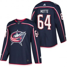 Columbus Blue Jackets #64 Tyler Motte Navy 2018 New Season Player Home Jersey