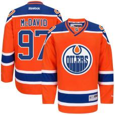 Oilers #97 Connor Mcdavid Orange Premier Alternate Jersey