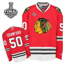 Youth Chicago Blackhawks Corey Crawford #50 Red 2015 Stanley Cup Home Jersey