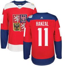 Czech Republic Team 2016 World Cup of Hockey #11 Martin Hanzal Red Premier Jersey