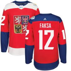 Czech Republic Team 2016 World Cup of Hockey #12 Radek Faksa Red Premier Jersey