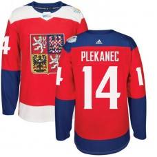 Czech Republic Team 2016 World Cup of Hockey #14 Tomas Plekanec Red Premier Jersey