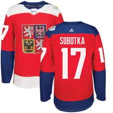Czech Republic Team 2016 World Cup of Hockey #17 Vladimir Sobotka Red Premier Jersey