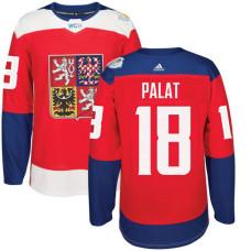 Czech Republic Team 2016 World Cup of Hockey #18 Ondrej Palat Red Premier Jersey