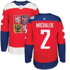 Czech Republic Team 2016 World Cup of Hockey #2 Zbynek Michalek Red Premier Jersey