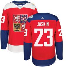 Czech Republic Team 2016 World Cup of Hockey #23 Dmitrij Jaskin Red Premier Jersey