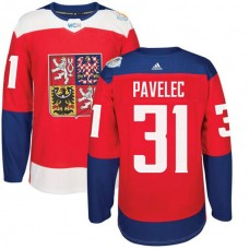 Czech Republic Team 2016 World Cup of Hockey #31 Ondrej Pavelec Red Premier Jersey