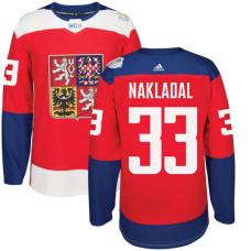 Czech Republic Team 2016 World Cup of Hockey #33 Jakub Nakladal Red Premier Jersey