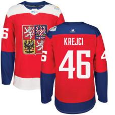 Czech Republic Team 2016 World Cup of Hockey #46 David Krejci Red Premier Jersey