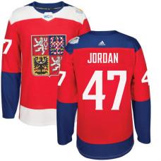 Czech Republic Team 2016 World Cup of Hockey #47 Michal Jordan Red Premier Jersey