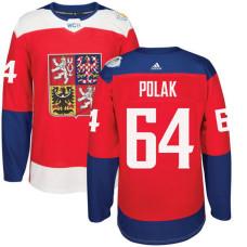 Czech Republic Team 2016 World Cup of Hockey #64 Roman Polak Red Premier Jersey