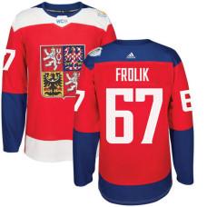 Czech Republic Team 2016 World Cup of Hockey #67 Michael Frolik Red Premier Jersey