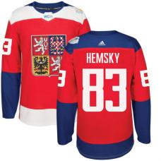 Czech Republic Team 2016 World Cup of Hockey #83 Ales Hemsky Red Premier Jersey