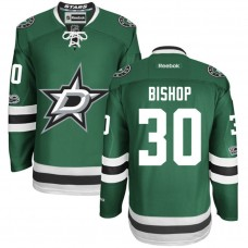 Dallas Stars #30 Ben Bishop Green Anniversary Patch Reebok Home Premier Jersey