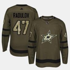 Dallas Stars #47 Camo Salute To Service Alexander Radulov Jersey