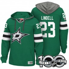 Dallas Stars #23 Esa Lindell Green 2017 Anniversary Patch Hoodie