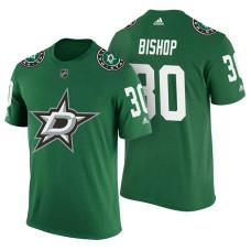 Dallas Stars #30 Ben Bishop Green Adidas Player Jersey Style T-shirt