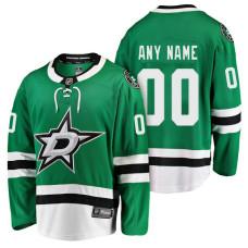 Dallas Stars 2018 Fanatics Branded Custom Jersey Green