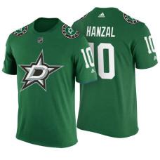 Dallas Stars #10 Martin Hanzal Green Adidas Player T-shirt