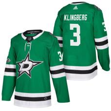 a5fa09ef9 Dallas Stars  3 John Klingberg Green 2018 New Season Home Authentic Jersey  With Anniversary Patch