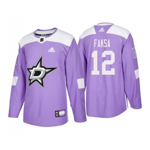 first rate 17bfb 881f3 Dallas Stars  12 Radek Faksa Purple 2018 Adidas Authentic Hockey Fights  Cancer Jersey