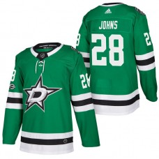Dallas Stars #28 Stephen Johns Green 2018 New Season Home Authentic Jersey With Anniversary Patch