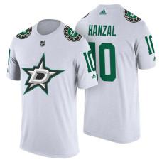 Dallas Stars #10 Martin Hanzal White Adidas Player T-shirt