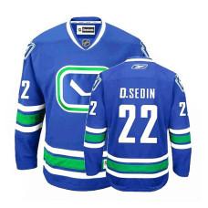 Vancouver Canucks Daniel Sedin #22 Royal Blue Alternate Jersey